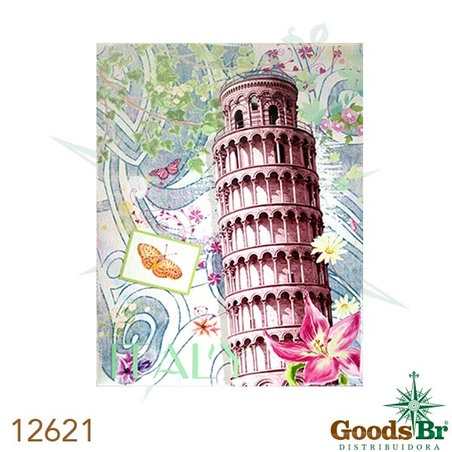 -tela impressa torre de pisa 90x70x4cm