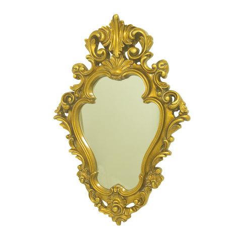 ESPELHO C/ MOLDURA GOLD GOLDWAY 88x59x7cm