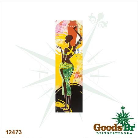 -tela impressa desenho africana vaso  145x40x4cm