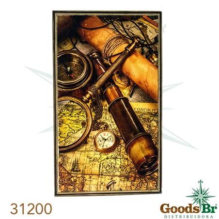 quadro linho antique mapalupa  190x112cm
