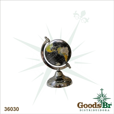 GLOBO BLACK ALUMINIUM BASE OLDWAY 20x10x12cm