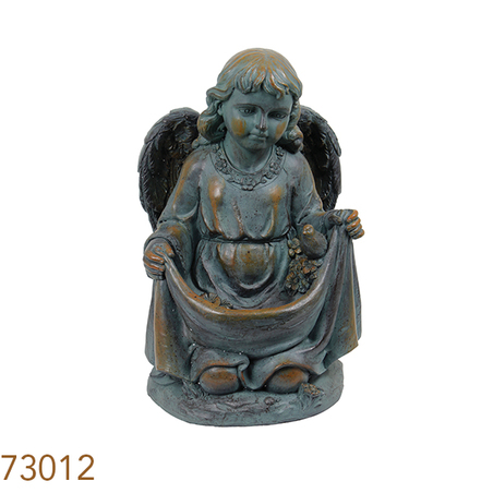 estatua comedouro pas anjo joelhos  51x32x32cm