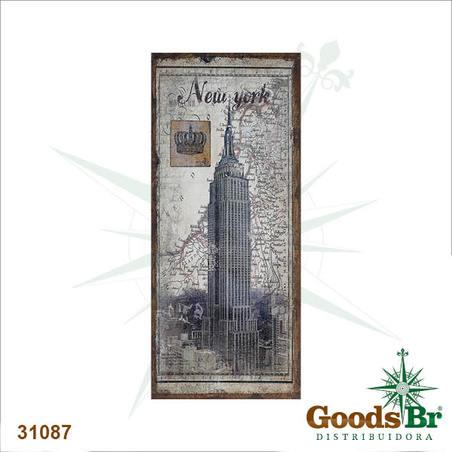 tela antique empire new york linho  127x56x4cm