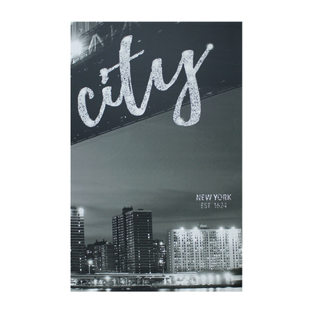 tela impressa new york citycom led 2  100x160x4cm