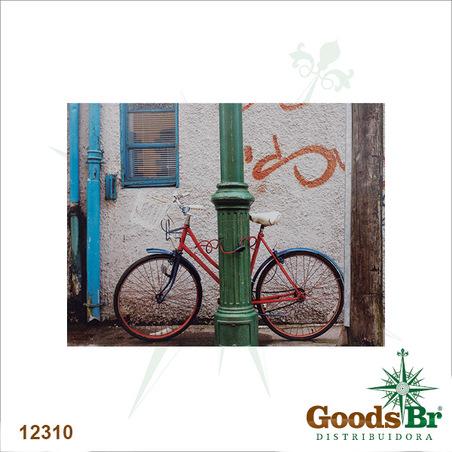 tela impressa bike vermelhano poste  85x113x4cm