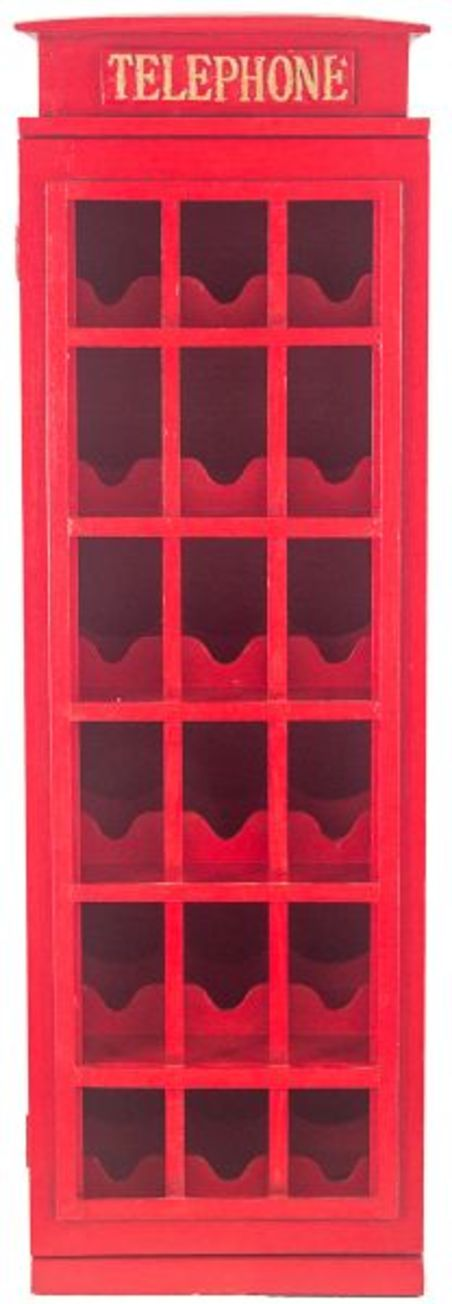 adega madeira 18g cabine telefonica  96x36x30cm