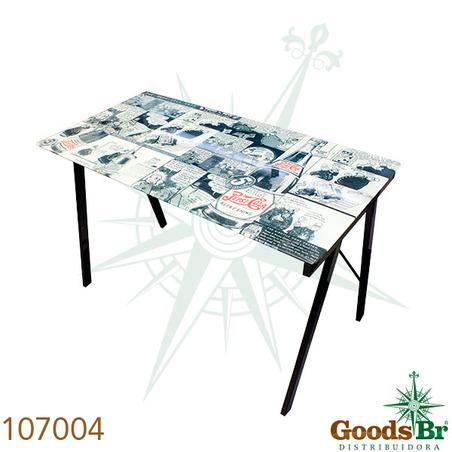 mesa de computador vidro pepsi  73x113x58cm