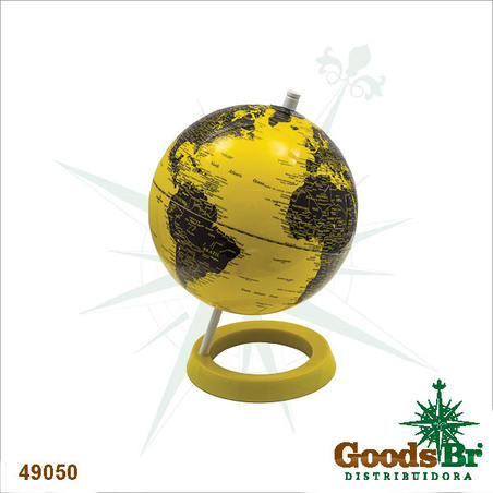 -globo colo yellow/black polished  28x20x20cm