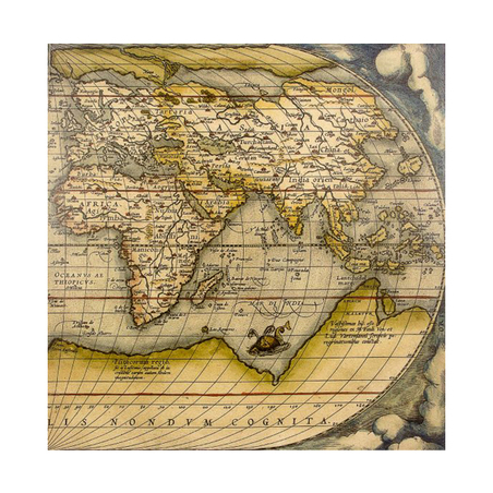 tela impressa mapa oriente100x100x4cm