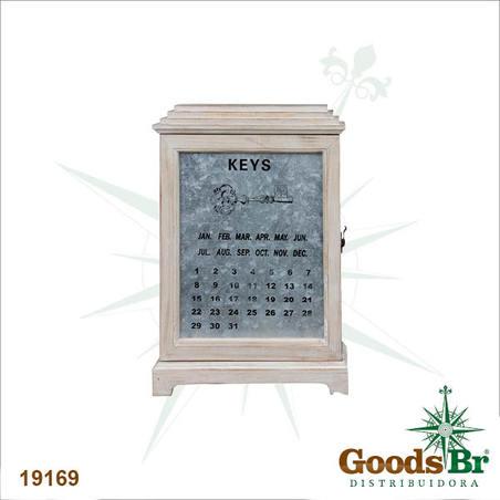 -porta chaves armario com calendario  46x32x10cm