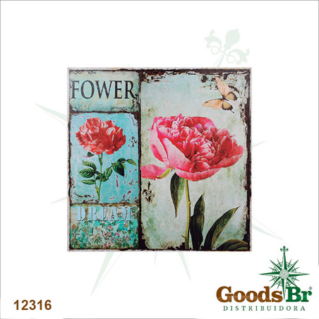 tela impressa flower dream50x50x3cm
