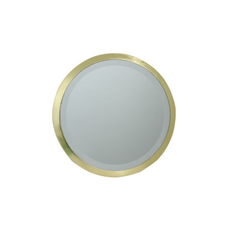 ESPELHO REDONDO MDF GOLD GOLDWAY 19x19x1.3cm
