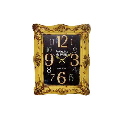 -relogio mold amarelo/pre retangular  48x38x6cm
