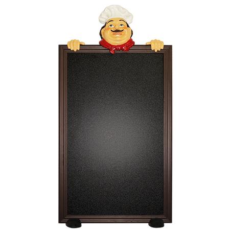 quadro negro cabeca de cozinheiro  100x50x9cm