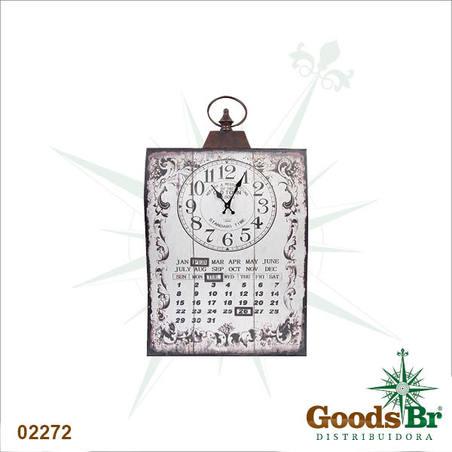 relogio parede calendario curvo bco  71x40x3cm