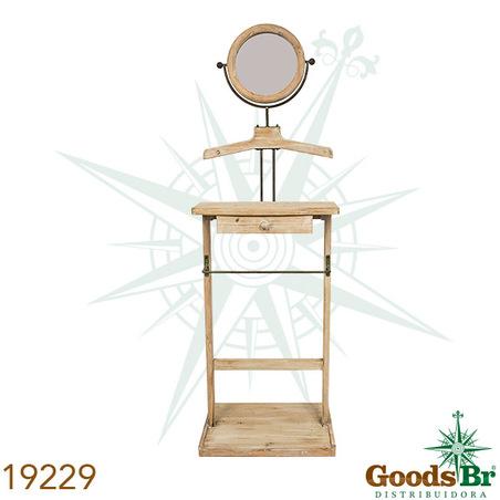aparador cabid madeira c espelo  158x91x38cm
