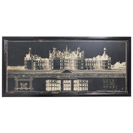 quadro chateau de chambordfranca  90x200x5cm