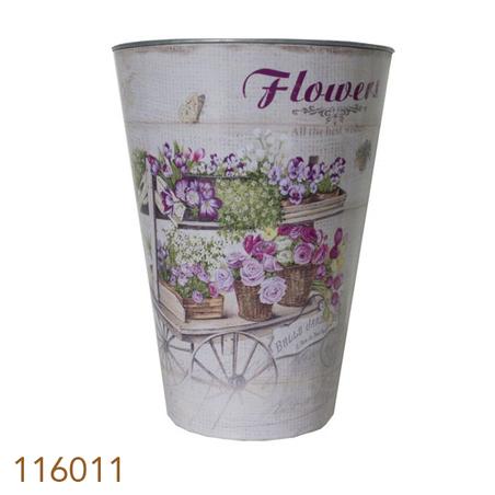 -cachepot em zinco cj 6pc flores  40x30x30cm