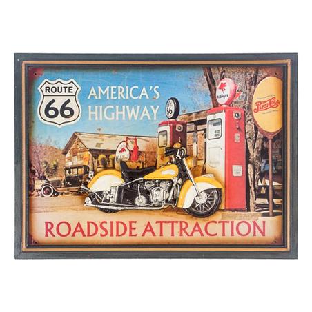 quadro americas highway  39x54x3cm