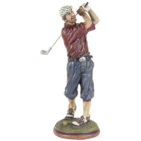 golfista camisa vermelha  33x15x12cm