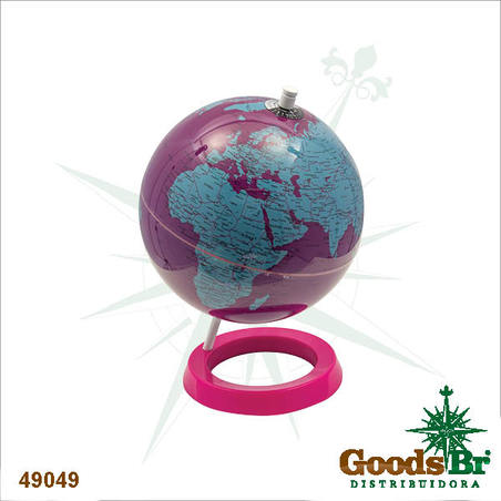 -globo pink/purple/blue polisd  28x20x20cm