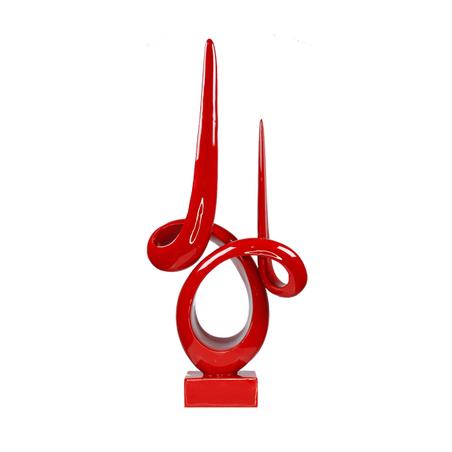escultura curvas resina vermelha grande 65x28x9cm