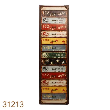 gaveteiro 13 gavetas coloridas  110x30x30cm