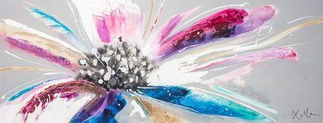 -quadro pintura flor 70x180x4cm