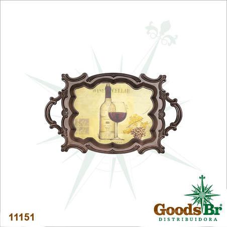 bandeja madeira/pvc classicwine  72x44x4cm