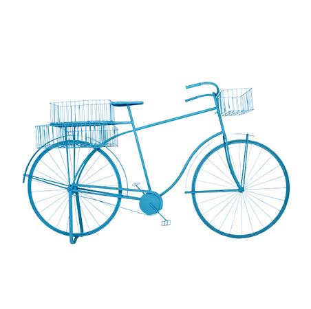 bicicleta azul decorativa emmetal  101x184x57cm