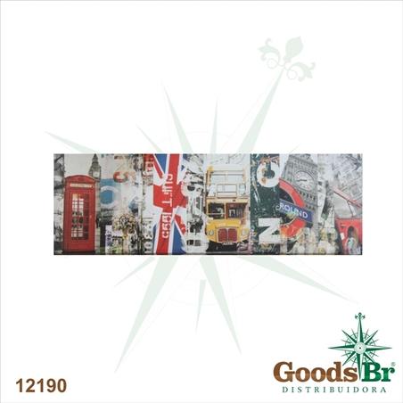 tela impressa horizontal london  45x140x4cm