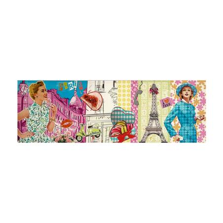 -tela impressa desenho pariscores  40x120x4cm
