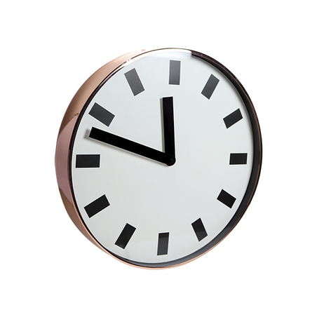 relógio de parede metal rose gold 40x40x6cm