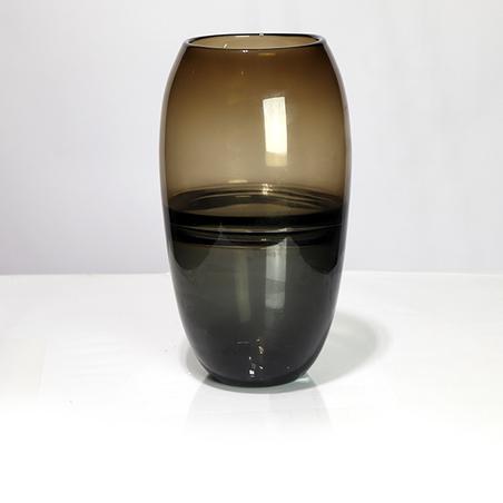 vaso vidro médio Âmbar e fumê29x16x16cm