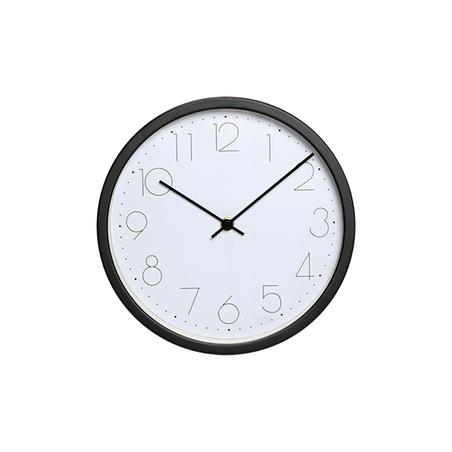 relógio de parede metal preto25x25x5cm