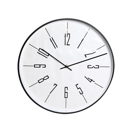 relógio de parede metal preto40x40x3cm