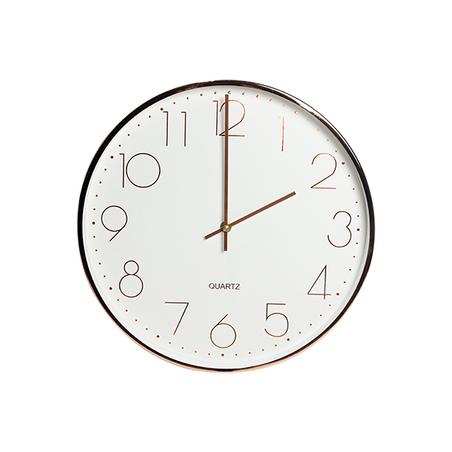 relógio de parede metal rose gold 34,5x34,5x5cm