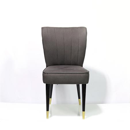 cadeira retro sarja grafite listra preta 94x54x46cm