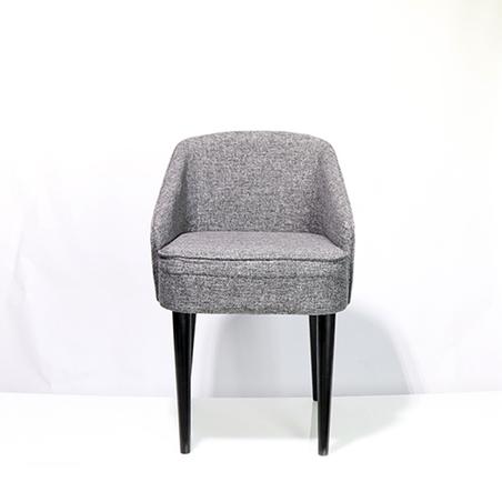 cadeira curva linho marmorizado 80x49x57cm