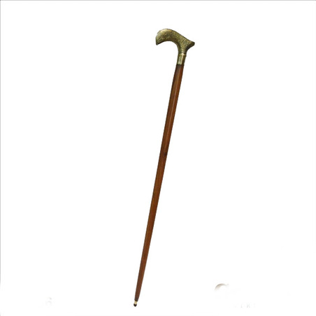 bengala madeira e bronze kashmmiri  90x11,5x2,5cm