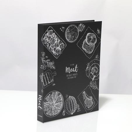 BOOK BOX METALIZ MEAT 30x24x4cM