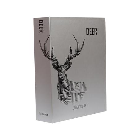 BOOK BOX METALIZ DEER GEOMETRIC 26x20x7cm