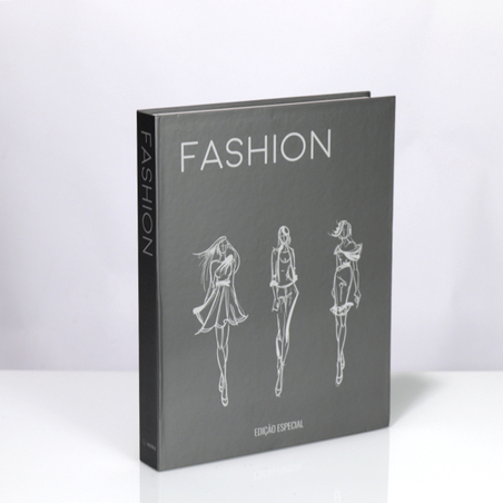 BOOK BOX METALIZ HOT FASHION 30X24X4CM