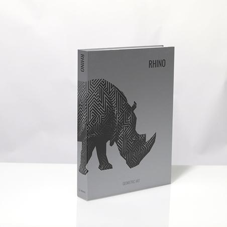 BOOK BOX METALIZ RHINO GEOMETRIC 36x27x5cm