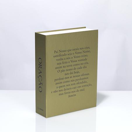 BOOK BOX METALIZ ORAÇÃO 26x20x7CM