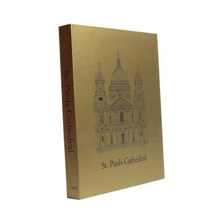 BOOK BOX METALIZ CATHEDRAL 30x24X4CM