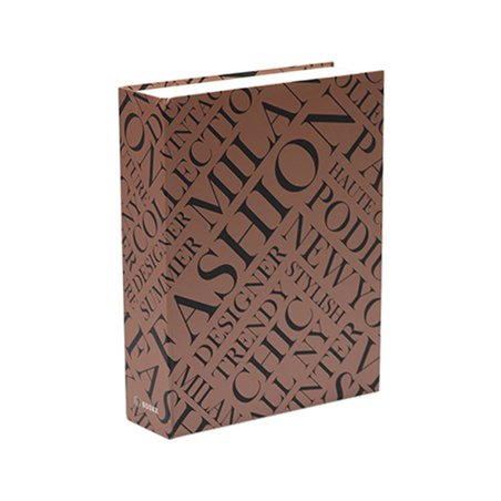 BOOK BOX METALIZ FASHION ESTAMPA 26x20x7cm