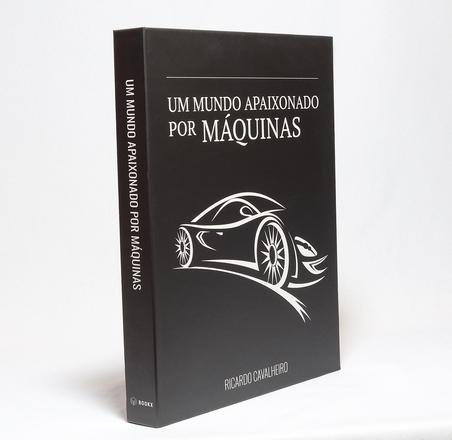 BOOK BOX METALIZ UM MUNDO APAIXONADO POR MAQUINAS 30x24x4cm