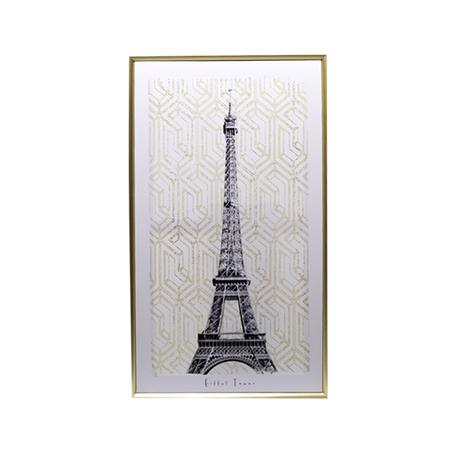 tela impressa c/ mold douradatorre eifflel 90x50x3.5cm