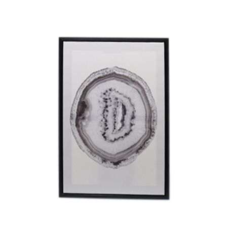 tela impressa c/ mold preta Ágata branca 70x50x3cm